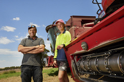 ALA-0000975 © WestPix South Stirling farmer John Howard and son Jack Howard finished their harvest last week after a frustrating finish to what began as a promising year. Picture: Malcolm Heberle
