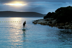 ALA-0001622 © WestPix SUPLime's Courtney Higgins has been enjoying the warm start to winter at Middleton Beach. Picture: Laurie Benson Albany Advertiser