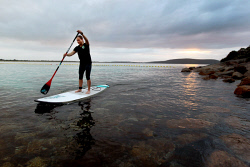 ALA-0001623 © WestPix SUPLime's Courtney Higgins has been enjoying the warm start to winter at Middleton Beach. Picture: Laurie Benson Albany Advertiser