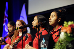 ALA-0001717 © WestPix Members of Follow The Dream performed for the 2016 Sports Person of the Year audience. Picture: Laurie Benson Albany Advertiser