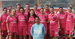 BDT-0000400 © WestPix The Geographe Bay Soccer Club Ladies team donned pink strips at the weekend for the club's Pink Sports Day fundraiser. Picture: Cameron Myles Busselton Dunsborough Times