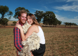 CTY-0003659 © WestPix Wagin farming couple Luke Hall and Alexandra Hall have just finished their first wool harvest together has man and wife. Picture: Bob Garnant