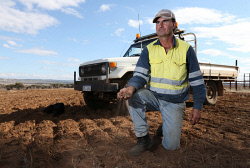 CTY-0003858 © WestPix The Sunday Times is looking at farming conditions in the Wheatbelt with some parts being very dry, while other parts are wet. Pictured is York farmer Duncan Young on his property near the town. Picture - Justin Benson-Cooper. The Sunday Times