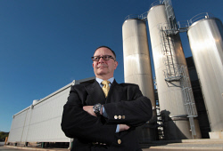 CTY-0003939 © WestPix Brownes chief executive and managing director Tony Girgis in front of silos which hold about 700,000L of raw milk. The dairy processor has saved 60 million litres of water a year under an efficiency drive that has seen it cut milk wastage by 5 million litres a year at its Balcatta plant. 10 MAY 2016 Picture: Danella Bevis The West Australian