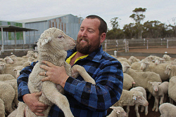 CTY-0003980 © WestPix Cadoux farmer Bryce Macnamara says the downpours of rain in the last week will mean they will be keeping their sheep. Picture: Rueben Hale Countryman.