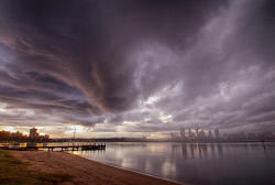 FEA-0007266 © WestPix Wild storm hits the Swan river Perth WA.  Picture: Shaun Fearn