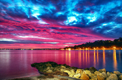 FEA-0007271 © WestPix Stunning Perth sunset in pink. Picture: Shaun Fearn
