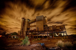 FEA-0007278 © WestPix Stormy night at old derelict factory in Cannington. Picture: Shaun Fearn