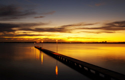 FEA-0007295 © WestPix Beautiful sunsetting over Como jetty Perth WA. Picture: Shaun Fearn