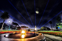 FEA-0007296 © WestPix The night before Anzac day in Kings park Perth WA. Picture: Shaun Fearn