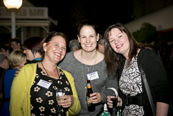 KGM-0023362 © WestPix Business After Hours at the WA Museum Kalgoorlie-Boulder, Cara Haymes, Jessica Biddle and Karen Patterson. (Picture: Louise White) 27th April 2016
