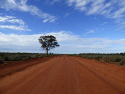 KGM-0025318 © WestPix A typical Outback road shot. Picture: Rebecca Nadge