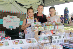 KGM-0029154 © WestPix Boulder Market Day, Business Socials. 'Tams Cakes', Tayten Dowson 9, Haylie Dowson and Lily Morrison 10. Picture: Mary Meagher.
