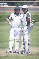 KGM-0030164 © WestPix Cricket at Sir Richard Moore Sports Centre, Hannans vs North Kalgoorlie, North Kalgoorlie's Matt Lemm and Blake Willis. (Picture: Louise White) 18th February 2017