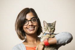 KGM-0030289 © WestPix My Pet, Vinita Rajadurai and her five-month-old kitten Nala. (Picture: Louise White) 24th February 2017