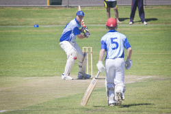 KGM-0031071 © WestPix Eastern Goldfields Cricket Association A-grade grand final at Sir Richard Moore Sports Centre, Great Boulder vs Lake View, Great Boulder's batsman Jack Martin. (Picture: Louise White) 26th March 2017