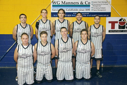KGM-0031814 © WestPix The Franchise, Mens A 1 Basketball Team.  Picture: Mary Meagher. Back row left-right: Lou Causer, Jerome Reid, Brett Hill, William Hansen and Daniel Forlano. Front row left-right: Rodney McDowell, Hayden Hutcheson, Russell Hurst and Jack Basley.