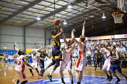 KGM-0032606 © WestPix Basketball, Goldfields Giants vs Bunbury Slammers, Giants' Jacob Holmen. (Picture: Louise White) 27th May 2017