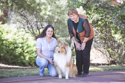 KGM-0032902 © WestPix WA Day at Museum of the Goldfields preview, Sue Wilton with Monte and Museum Manager Zoe Scott. (Picture: Louise White) 2nd June 2017