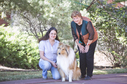 KGM-0032903 © WestPix WA Day at Museum of the Goldfields preview, Sue Wilton with Monte and Museum Manager Zoe Scott. (Picture: Louise White) 2nd June 2017