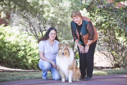 KGM-0032904 © WestPix WA Day at Museum of the Goldfields preview, Sue Wilton with Monte and Museum Manager Zoe Scott. (Picture: Louise White) 2nd June 2017