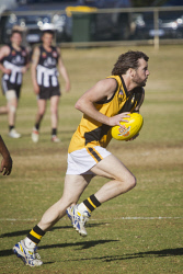 KGM-0034406 © WestPix Football, Boulder vs Kalgoorlie at Sir Richard Moore Sports Centre, Boulder's Luke Ryan.  (Picture: Louise White) 6th August 2017