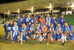 KGM-0034520 © WestPix Kalgoorlie College won this year's Knockout Cup soccer competition at Ray Finlayson Sporting Complex on Saturday night. Picture: Neil Watkinson