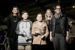 KGM-0034565 © WestPix Pitch for the Planet Youth Pitch Night, Facilitator Soraya Bozzetto, James Tricker, 11, Tara Tricker, 9, Mentor Emma Parker and Millennium Kids CEO Catrina-Luz Aniere. (Picture: Louise White) 12th August 2017