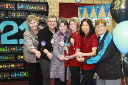 KGM-0034582 © WestPix O'Connor Primary School 21 years anniversary.  Picture: Mary Meagher. Allison Hunnter, Mary Genovese, Noelene Gallo, Rhonda Farina, Belinda Ng and Maureen Hartley.