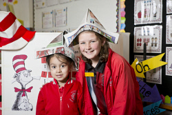 KGM-0034591 © WestPix Kalgoorlie Primary School Science Fair, Students Jessica Wilkins, 5, and Mackenzie Croft, 11.  (Picture: Louise White) 15th August 2017