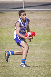 KGM-0034603 © WestPix Junior Football, Kalgoorlie vs Mines Rovers, Mines Rovers' Ethan Sambo. (Picture: Louise White) 12th August 2017