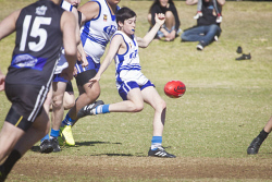 KGM-0034604 © WestPix Junior Football, Kalgoorlie vs Mines Rovers, Mines Rovers' Darcy Osmetti. (Picture: Louise White) 12th August 2017