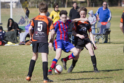 KGM-0035242 © WestPix Junior Soccer, Under-13 semi-finals, Twin City Boomers vs Norths Heat, Twin City's Nicholas Caputo. (Picture: Louise White) 2nd September 2017