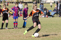KGM-0035244 © WestPix Junior Soccer, Under-13 semi-finals, Twin City Boomers vs Norths Heat, Norths' Dayne Van Maanen. (Picture: Louise White) 2nd September 2017