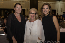 SUN-1401430 © WestPix Socials at the Business Chicks Breakfast with Magda Szubanski at Crown Ballroom in Burswood, Perth. (left to right) Megan Locke, Susi Jarmon, Emma Mackie. 27 April 2017. Picture: Ross Swanborough.