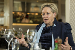 "SUN-1402410 © WestPix Minister Alannah MacTiernan at lunch, for the ""Lunch with "" section of Insider business magazine, pictured at Crown Resort in Perth. 11 June 2017.  Picture: Ross Swanborough."