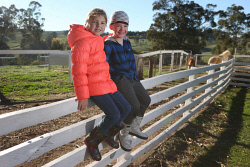 SUN-1402553 © WestPix The Sunday Times is looking at the growing and important rural industry of farm stays.  Pictured - Sasha Malligan (8) and Brock Malligan (5) from Sydney. Picture - Justin Benson-Cooper. The Sunday Times