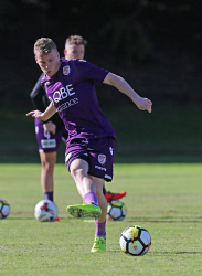 SUN-1402783 © WestPix Perth Glory training at McGillivray Oval, Mt Claremont. Pictured- Jacob Poscoliero Picture: Daniel Wilkins