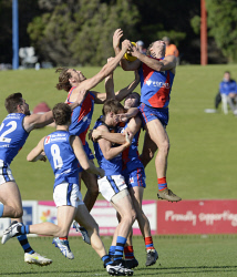 SUN-1402882 © WestPix WAFL. East Perth vs West Perth, HBF Arena. West Perth's Luke Meadows attempts a high mark. 5/8/17. Picture: Stewart Allen.
