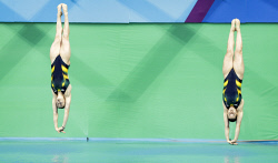 TWA-0050724 © WestPix 2016 Rio Olympics. Rio de Janeiro, Brazil. Women's Synchronised Diving. Australians Madison Keeney and Anabelle Smith take out Bronze, China Gold and Italy Silver. Picture: Simon Santi The West Australian