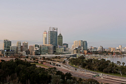 TWA-0051396 © WestPix City of Perth, from Kings Park. Picture: Ben Crabtree The West Australian. 25/07/2016