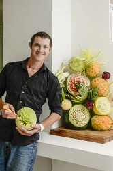 TWA-0051580 © WestPix FRE Fruit carver Ric Taylor. Pic. Iain Gillespie The West Australian