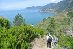TWA-0060591 © WestPix Hiking the Beccara trail from Riomaggiore. Cinque Terre, Italy. Picture: Steve McKenna The West Australian