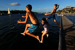TWA-0061718 © WestPix Summer Days in Perth: The Bicton Baths, Swan River, 6:15PM. Picture: Michael Wilson, WA News, 2nd January 2013