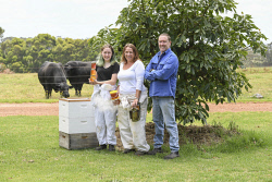 TWA-0063742 © WestPix Noel Burton and Kelly Burton and thier daughter Bree-Anna in Walpole. The beef farming family are venturing into honey and avacado production. Picture: Iain Gillespie The West Australian