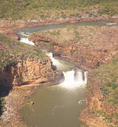 TWA-0064790 © WestPix Mitchell Falls on the Mitchell Plateau in the Kimberley. Picture: Stephen Scourfield The West Australian