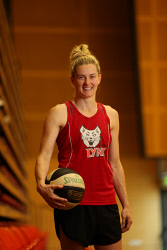 TWA-0066423 © WestPix Perth Lynx star Sami Whitcomb is about to fly to America to prepare for her WNBA career with the Seattle Storm. Pictured at the Bendat Basketball Centre in Mt Claremont, Perth. 24 March 2017.  Picture: Ross Swanborough The West Australian