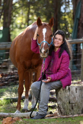 TWA-0069719 © WestPix Dr Judith Congrene, a vet, is a domestic violence victim and now after many years is coming out of her shell to tell her story for the first time. She has put her passion into helping animals. Pictured - with Tammy, her horse  Picture: Daniel Wilkins