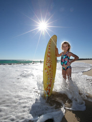 TWA-0070844 © WestPix Sun lovers lapped up the winter sunshine at City Beach this Sunday. Five year old Scotty Lawless is happy to be in the water despite it being winter. Picture: Sharon Smith The West Australian