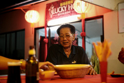 TWA-0070977 © WestPix Locals gather to enjoy the Chinese cuisine at Lucky Ho. Christmas Island travel feature. 10 JUNE 2017 Picture: Danella Bevis The West Australian